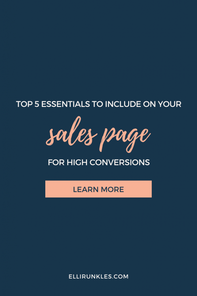 Sales Page Copy Essentials for a High-Converting Sales Page by Ellie Runkles