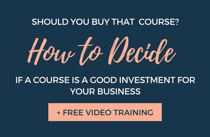 Should You Buy that Course? The blog by Elli Runkles dives into how to Decide if a Course is a Good Investment for Your Business #businesstips #contentmarketing #bizcourse