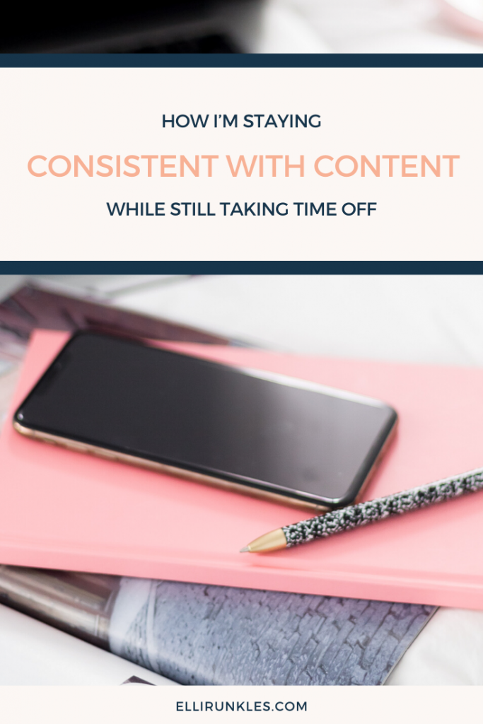 Want to take time off, yet also wanting to stay consistent with content marketing for your business. This blog walks you step by step for how to batch your content by Elli Runkles, Copywriter and content marketing strategist #contentmarketing #businesstips #business