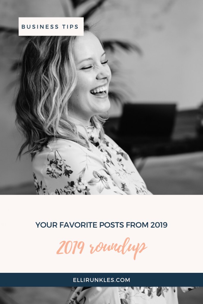 Top performing posts from 2019 including copywriting tips, sales copy tips, how to double your income, business books and business advice to help you grow your business by Elli Runkles, copywriter and content strategist for online business owners