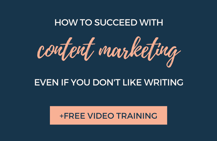 Struggling with how to write in your business? This blog post provides tips with how to succeed in content even if you aren't a writer by Elli Runkles