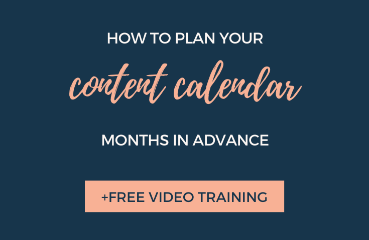 How to plan your content calendar months in advance | Elli Runkles