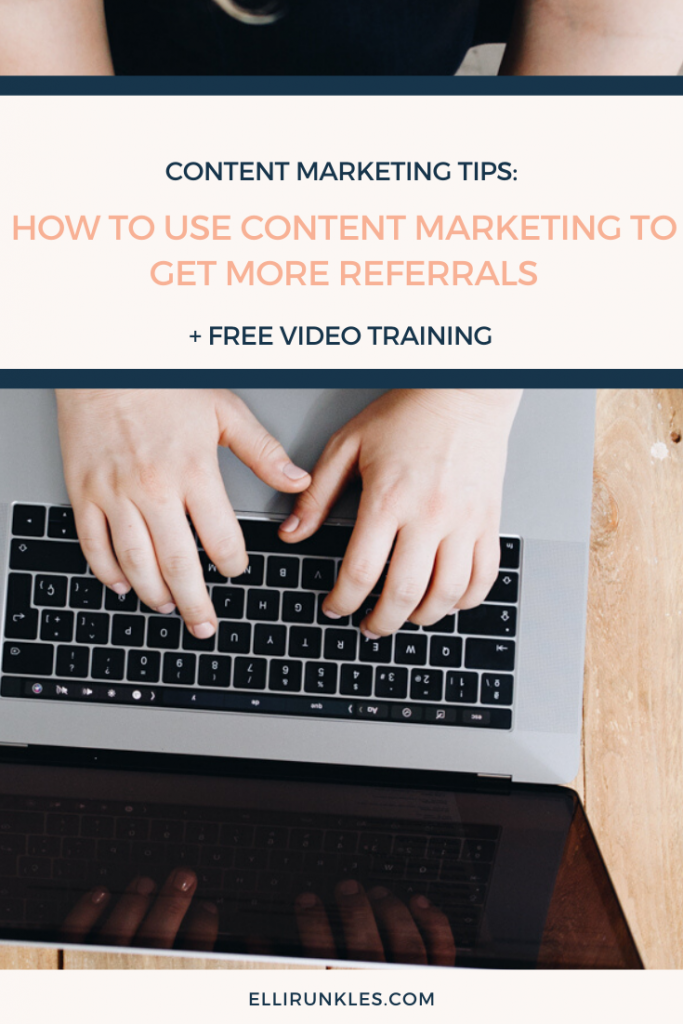 Wondering how to get more referrals? In this blog post Elli Runkles, content marketing strategist, explains how to get more referrals with content marketing