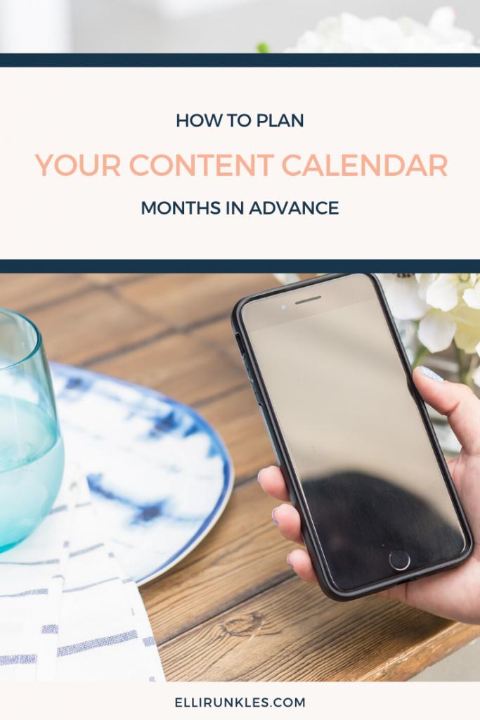 content calendar creation
